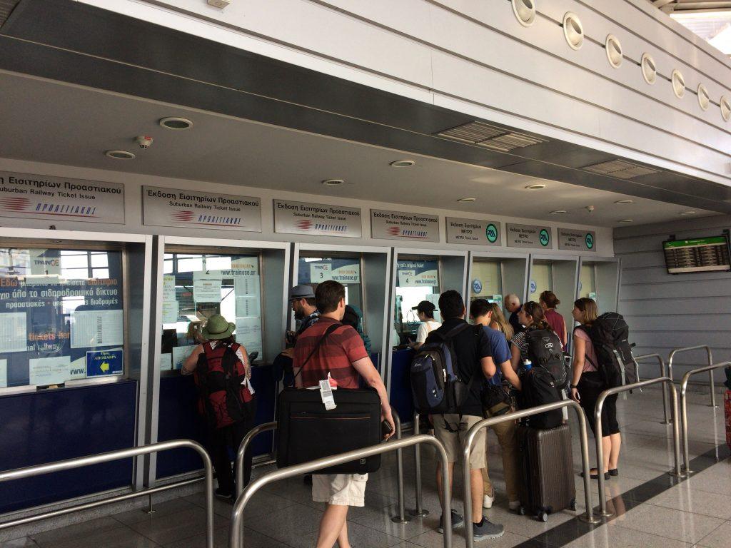 メトロの駅のチケット窓口