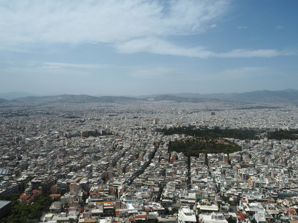 リカヴィトスの丘からの眺め(アテネ市街地)