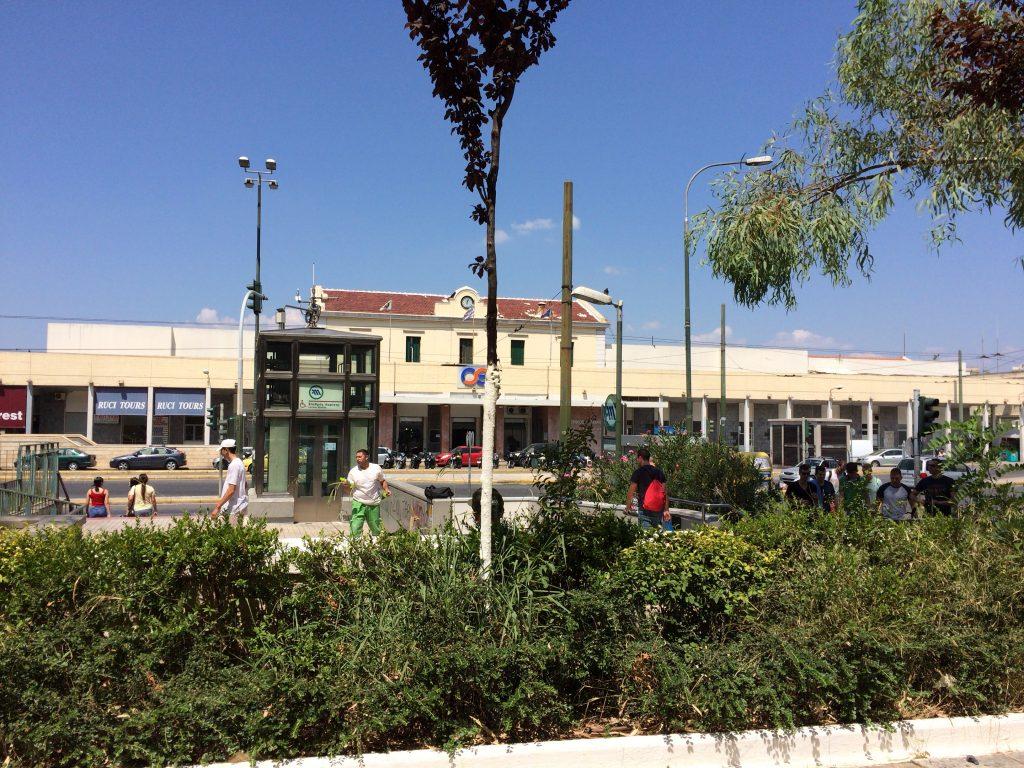 レストランからの眺め(アテネ駅)