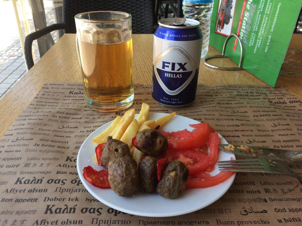 メゼ(meze)とギリシャビールのフィックス(FIX)