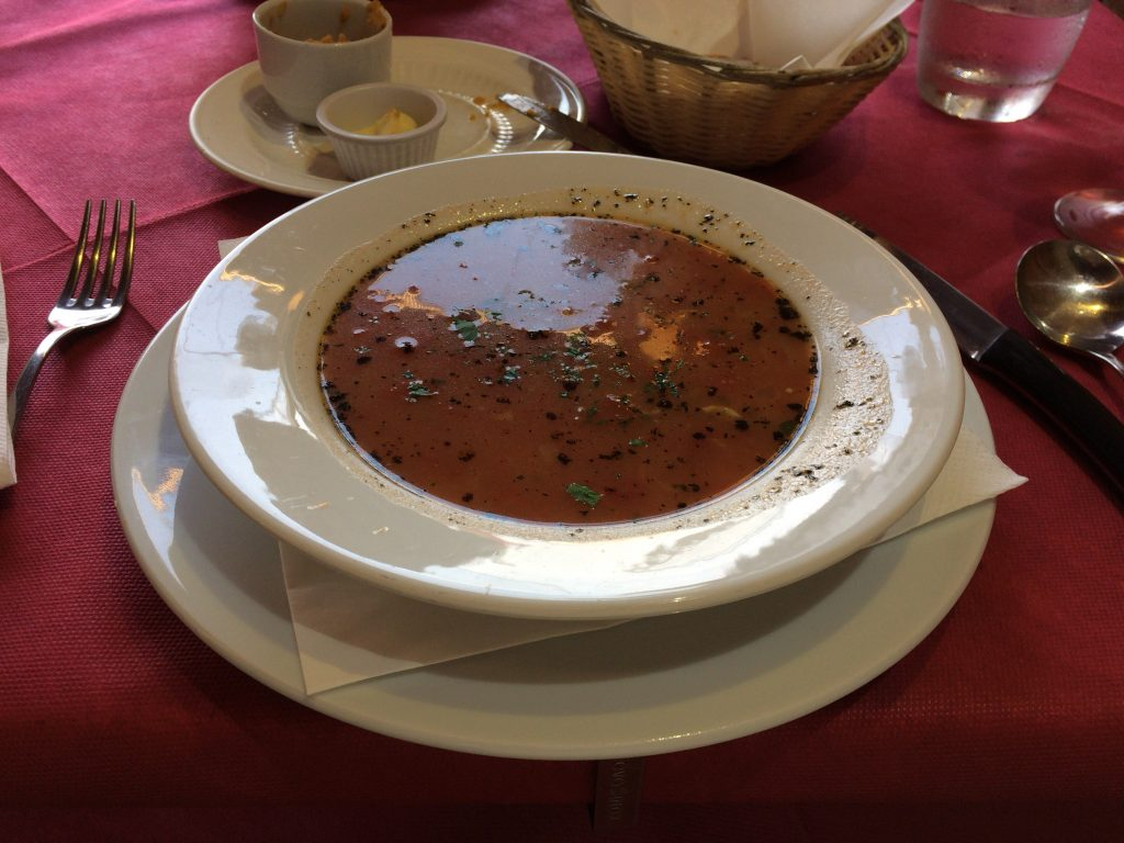 アリオッタ(フィッシュスープ)。マルタグルメを代表する一品だ