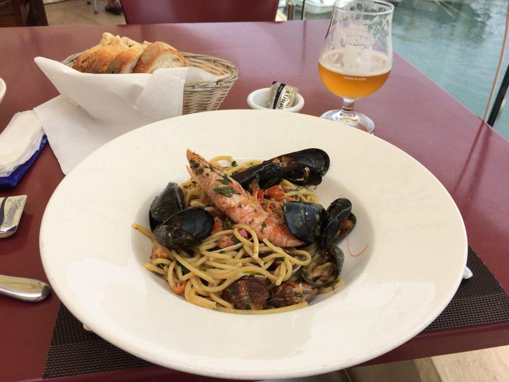 シーフードスパゲティ。マルタの新鮮なシーフードが楽しめる
