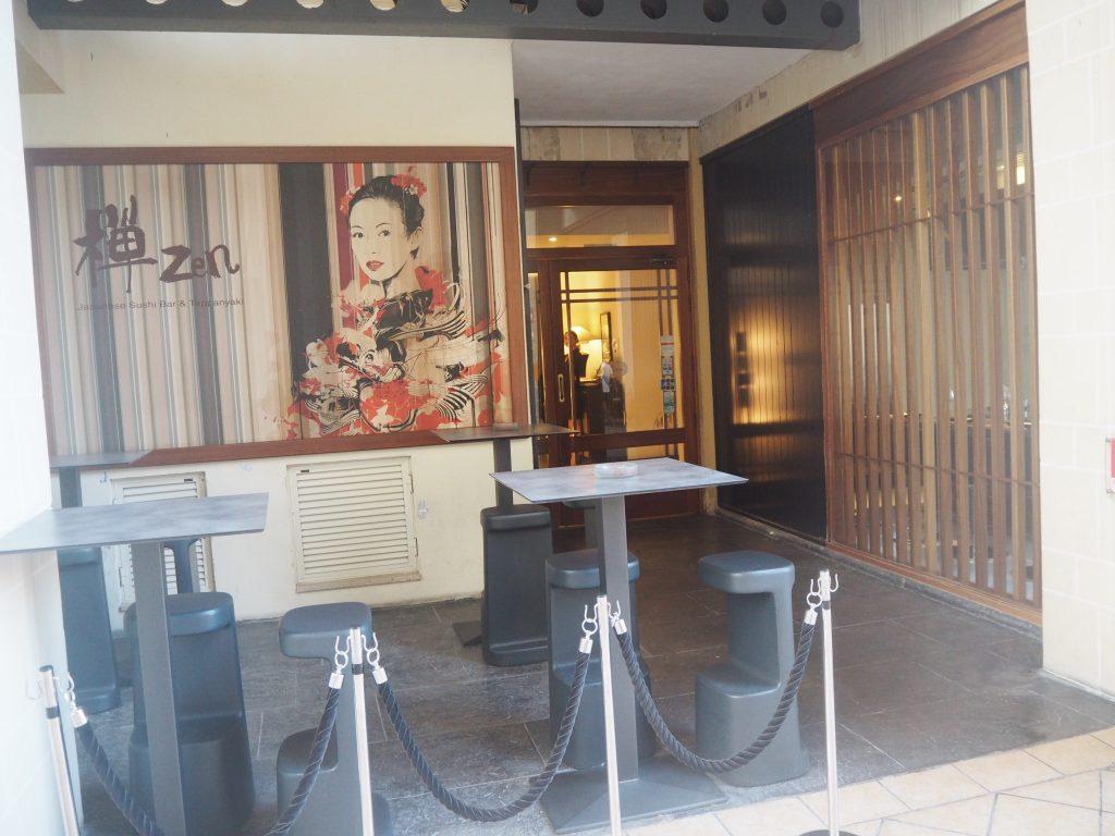「禅(Zen Japanese Sushi Bar & Teppanyaki)」外観