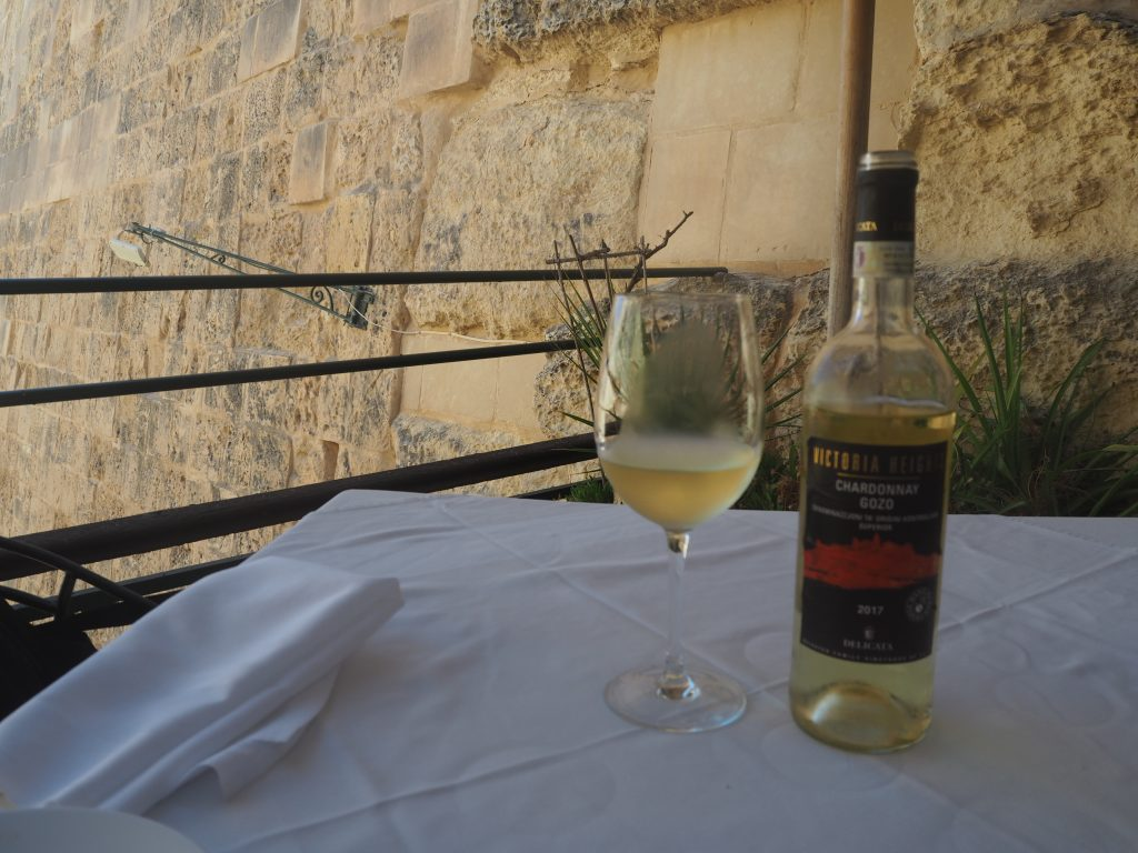 ゴゾ島のシャルドネは飲みやすくて美味しい