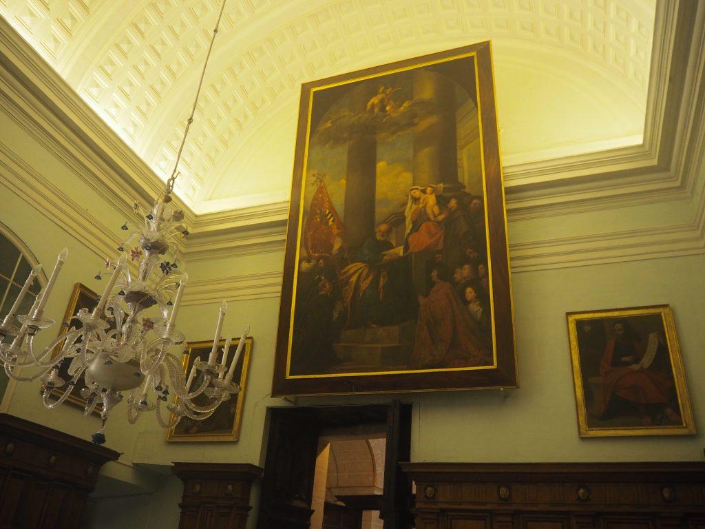 大聖堂に飾られている絵画