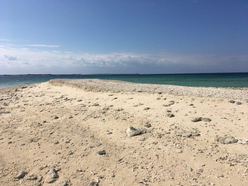 真っ白でゴツゴツした島だ。バラス島もこんな感じなのだろうか