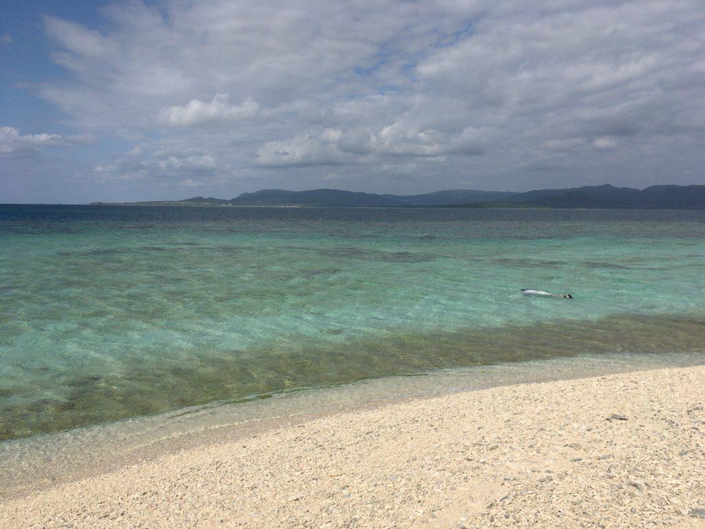 黒島近海の海は透明度が高い