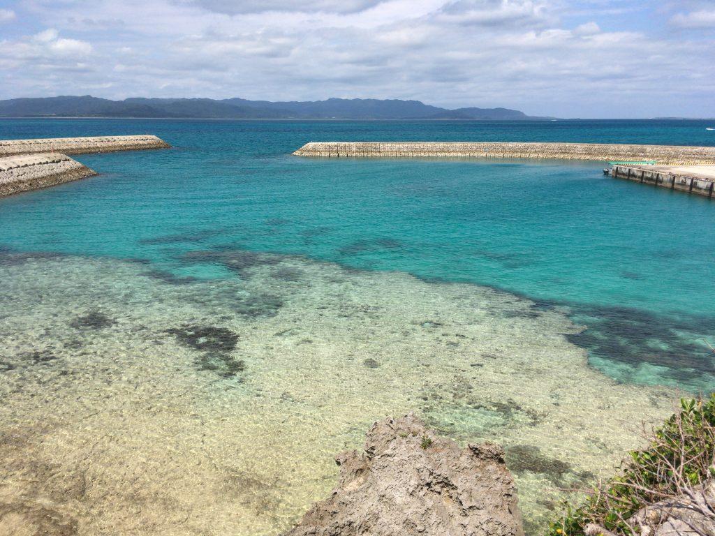 新城島の海の透明度は格別だ