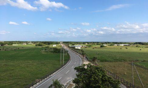 展望台から見る県道213号線