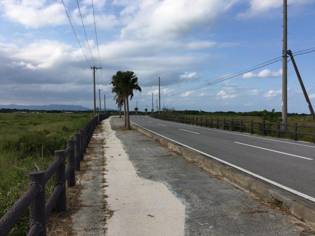 黒島港に向かう県道213号線