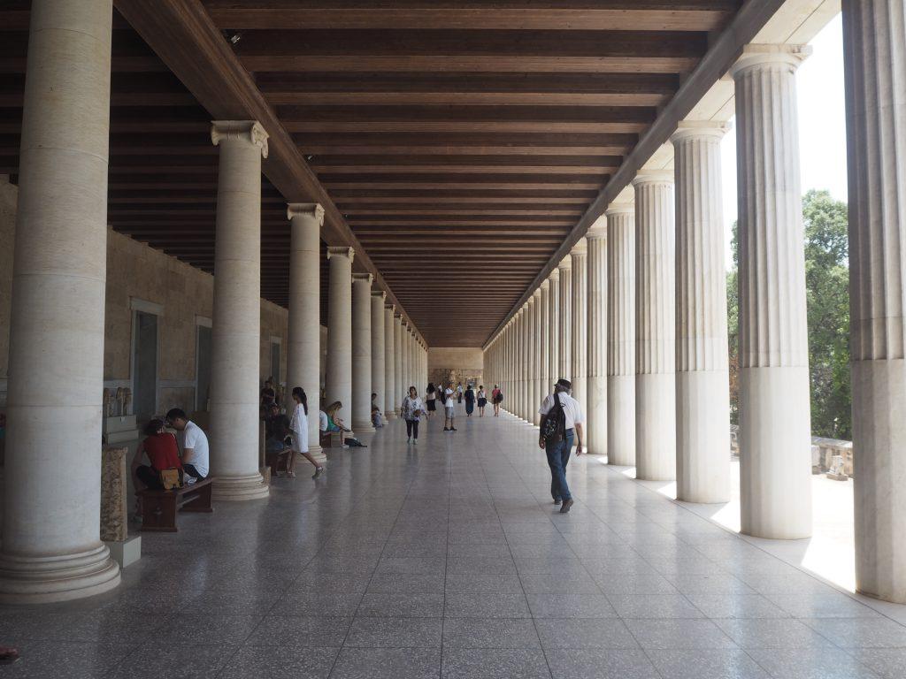 アタロスの柱廊(古代アゴラ博物館)