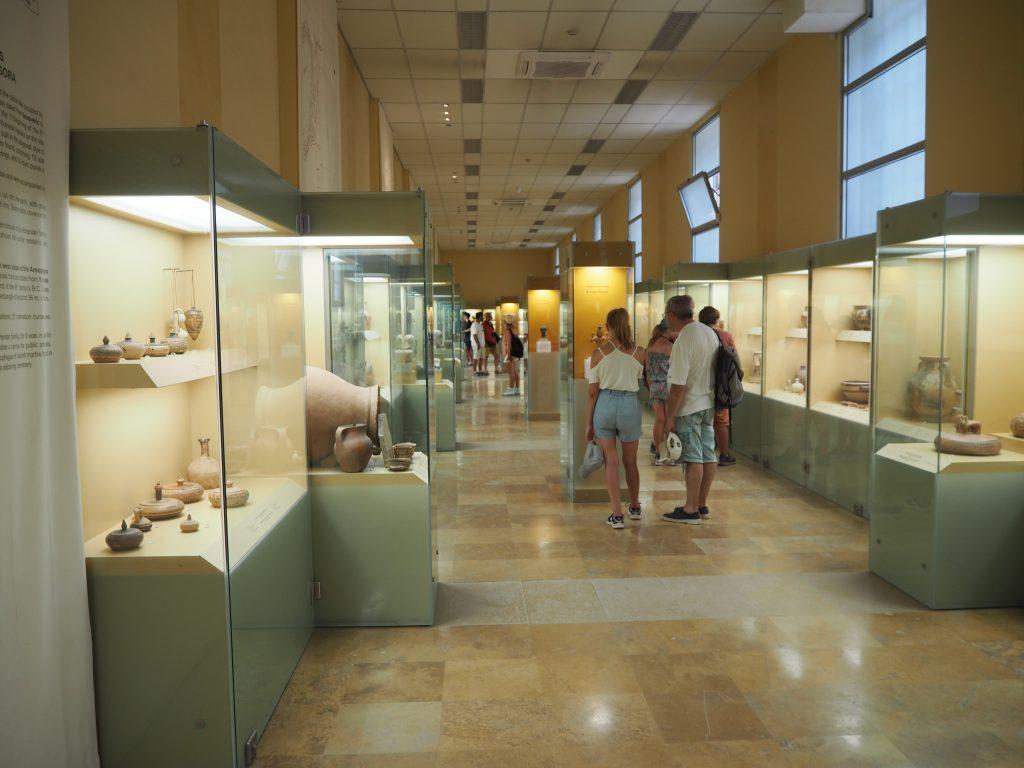 古代アゴラ博物館の内部