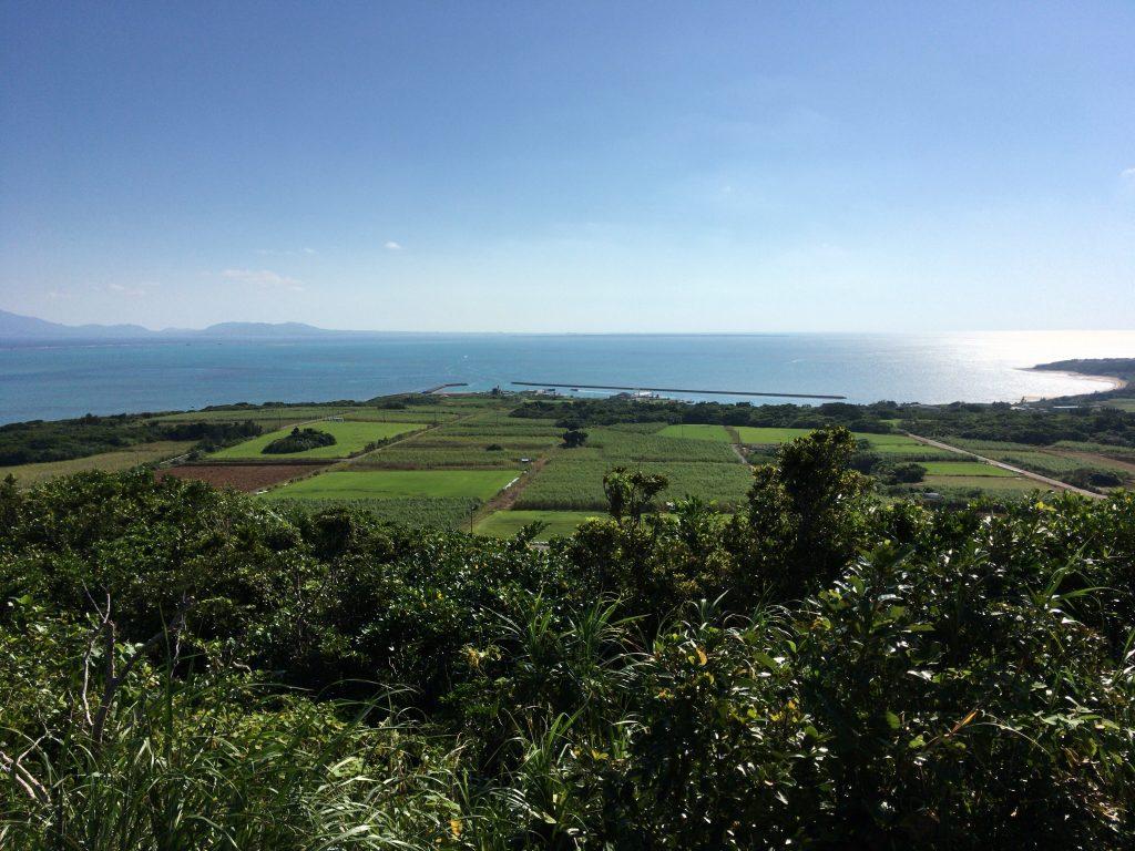 大岳展望台からの景色(小浜港方面)