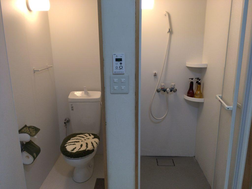 シャワーとトイレは別々になっているのが嬉しい