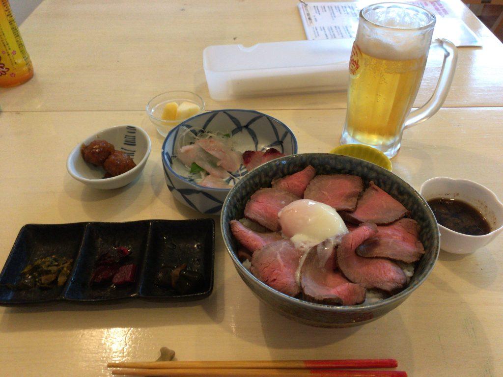 自家製ローストビーフ丼御膳