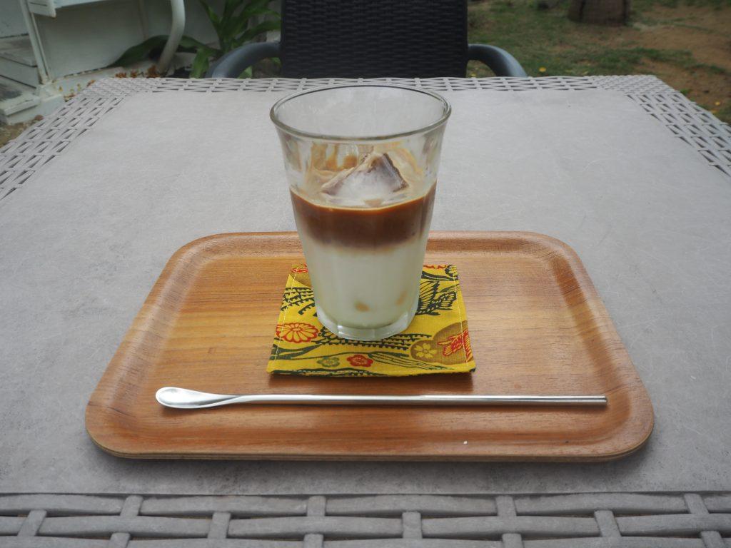 カフェラテは濃厚で美味しい