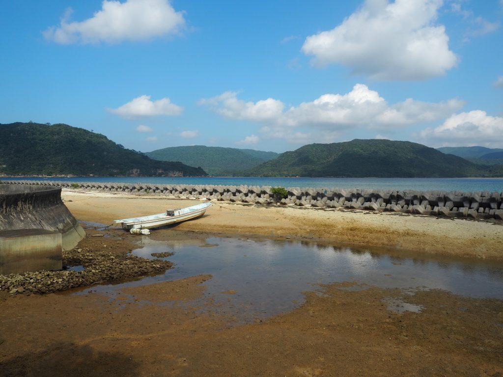 住民の足だろうか、船浮港には多くのボートが係留されている
