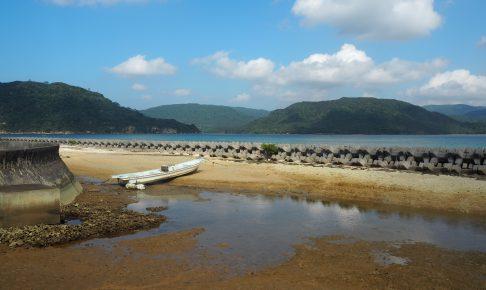 船浮港には多くのボートが留まっている。住民の足だろうか