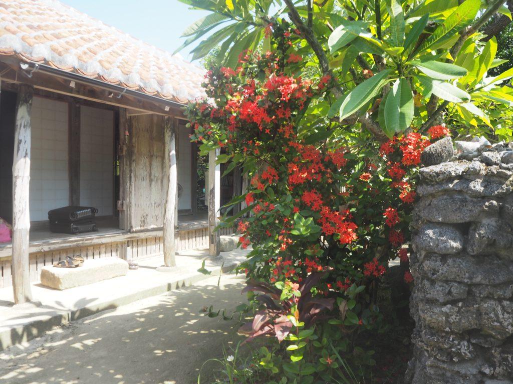 食堂の隣には琉球古民家の民宿がある