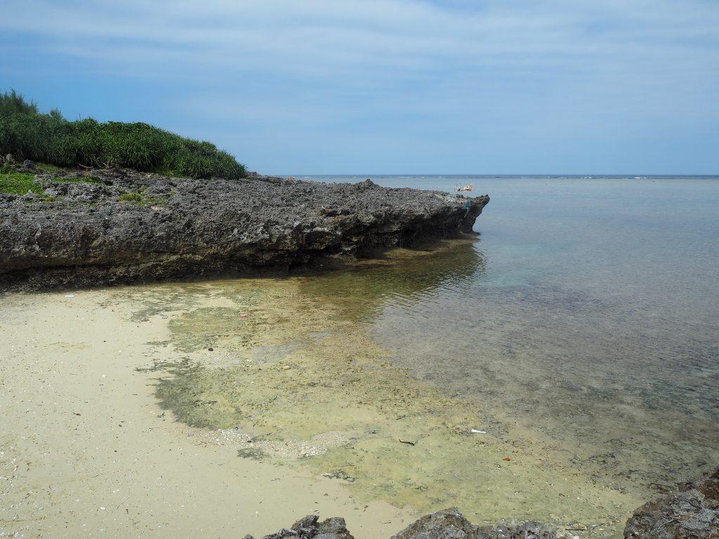 船原浜。小ぶりなビーチである