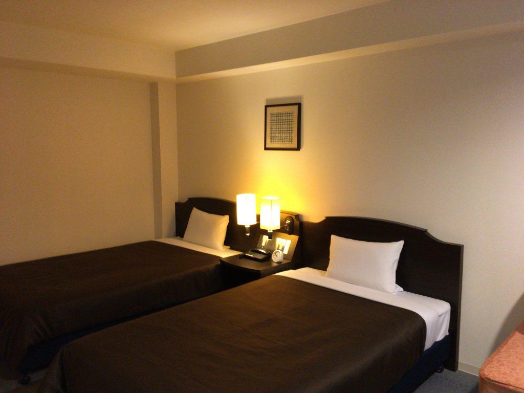 「アイランドホテル与那国」の客室(ツインルーム)