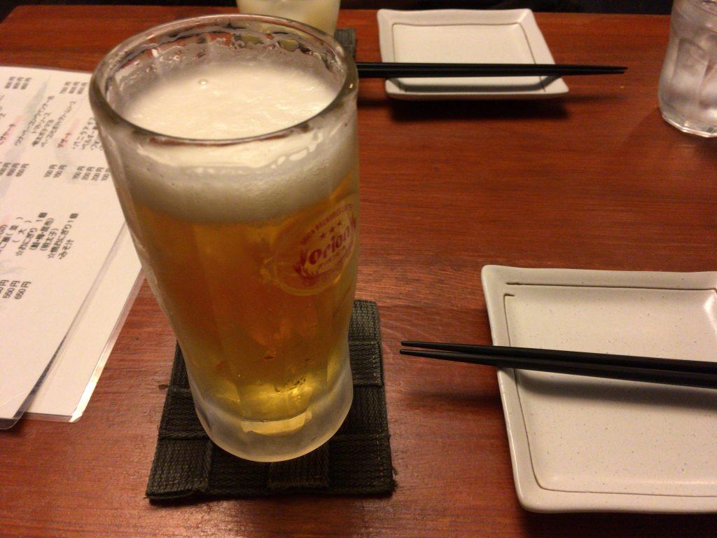 定番のオリオンビールで乾杯