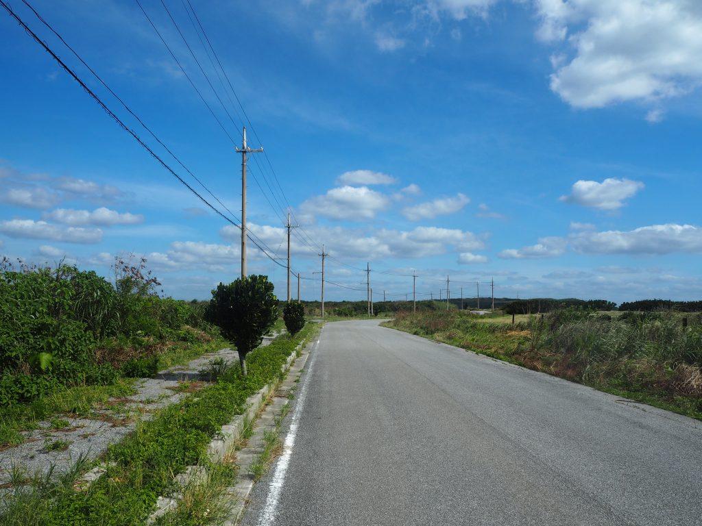 東崎に続く道路