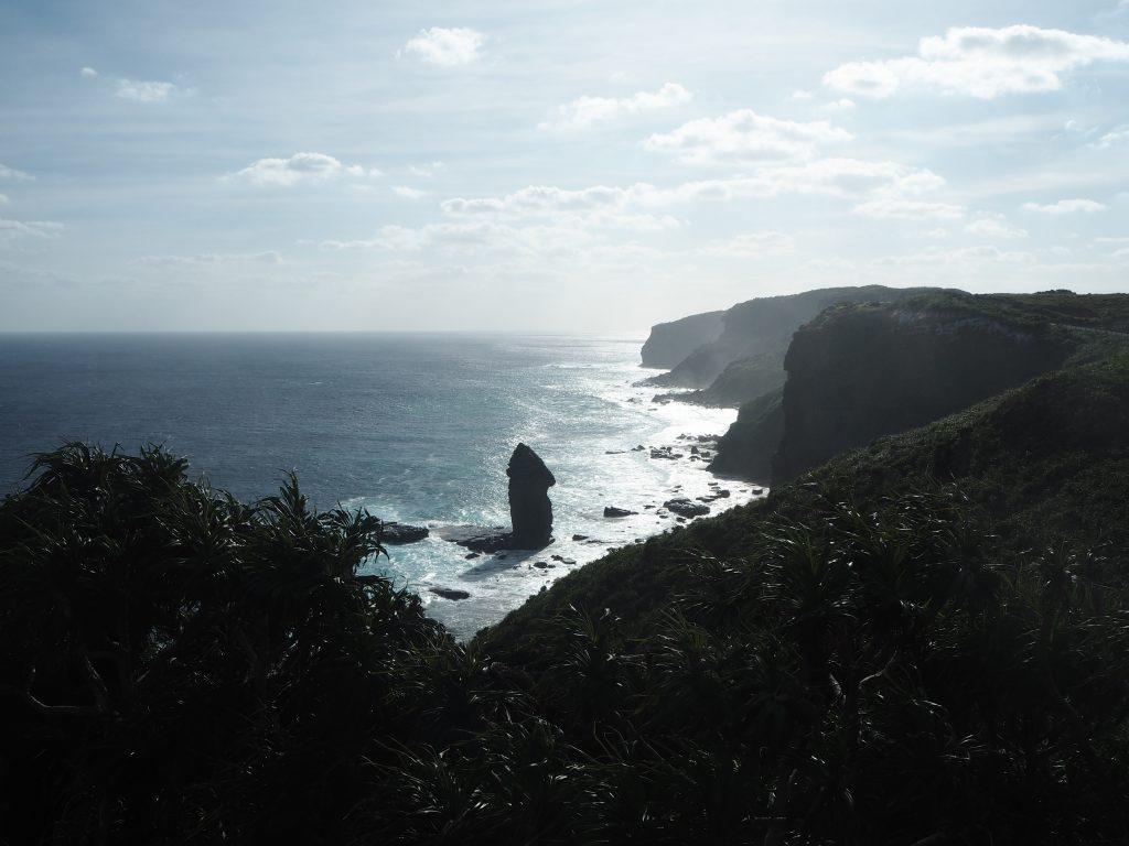立神岩展望台から見る立神岩