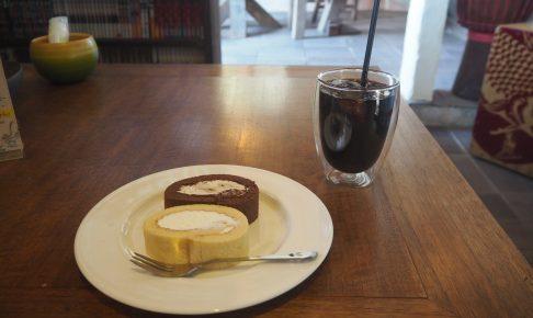 「モイストロールカフェ」のロールケーキセット