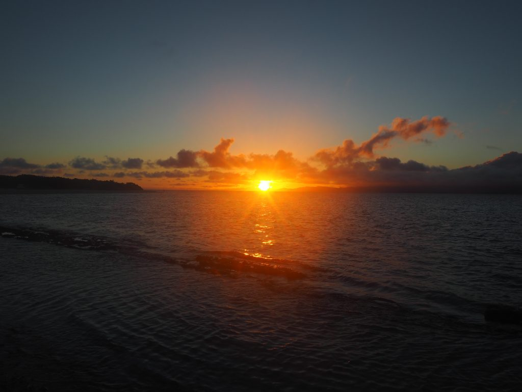 太陽が徐々に小さくなっていく