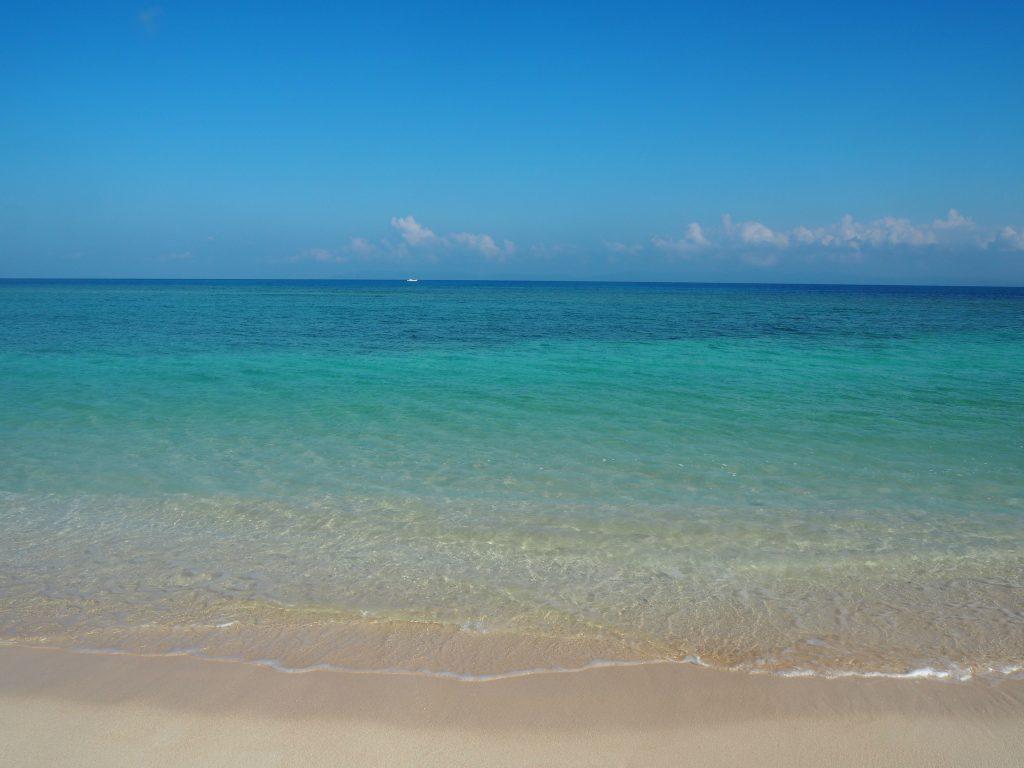 海の透明度は抜群だ