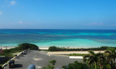 「ペンション最南端」からニシ浜を望む