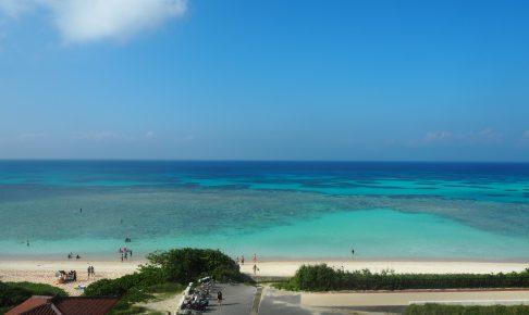 屋上からのニシ浜の眺め