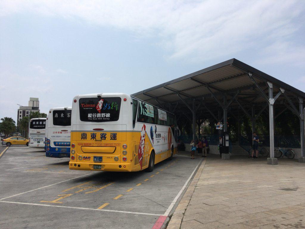 台東のバスターミナル