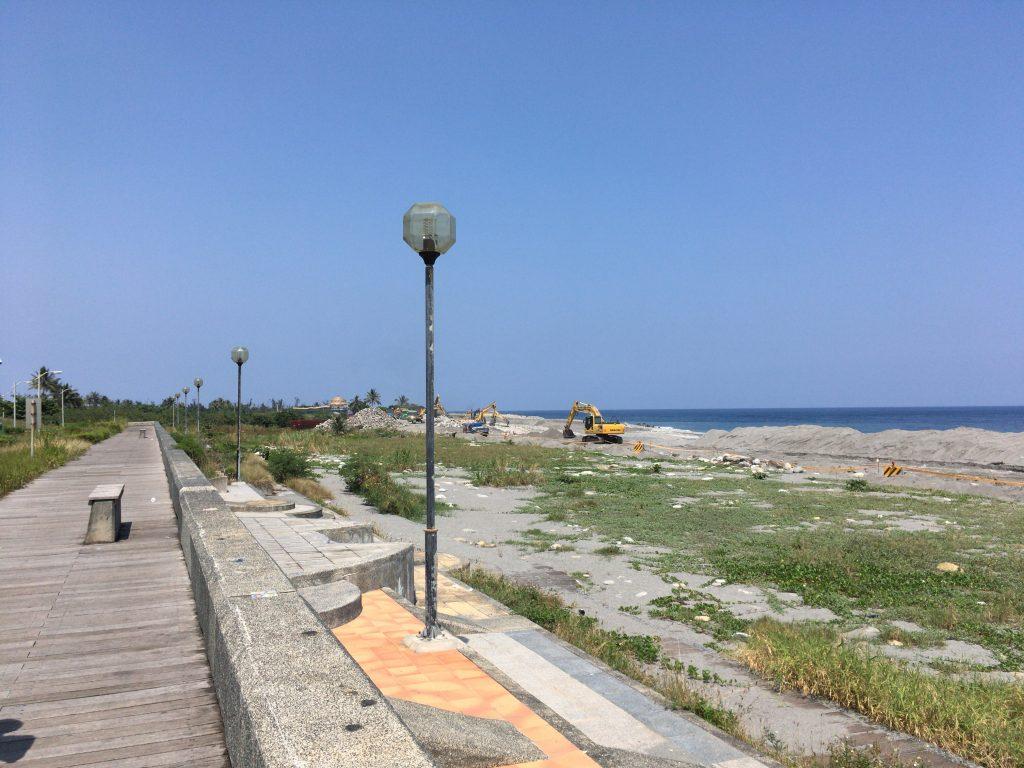 海濱公園。ビーチは工事中だった