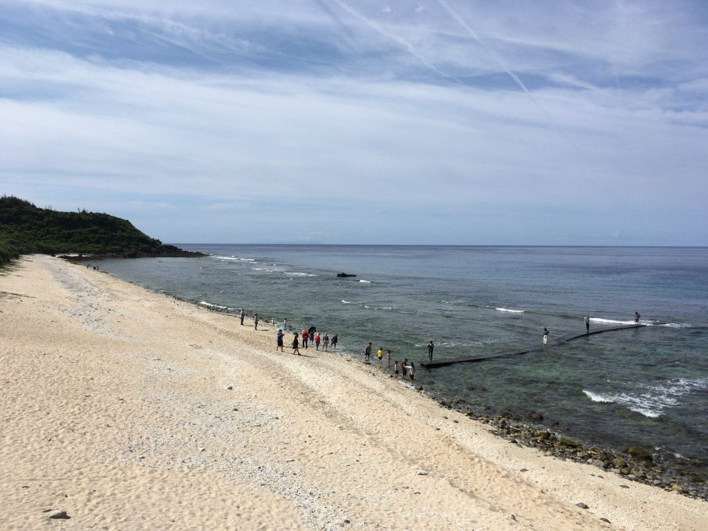 大白沙。白砂のビーチは台湾では珍しい