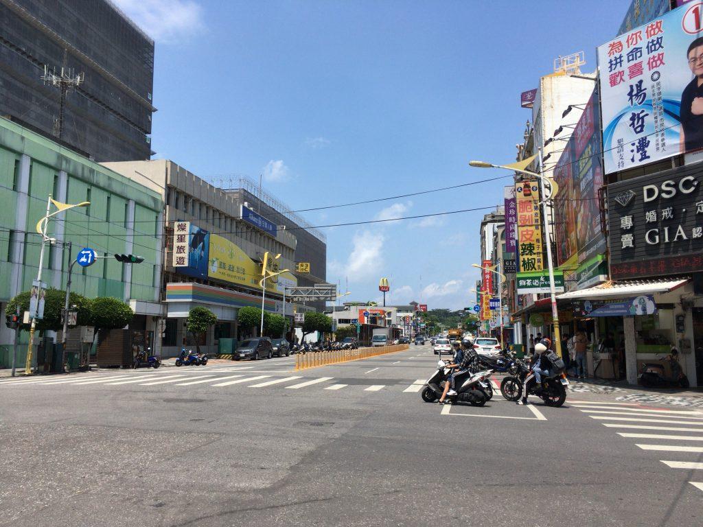 花蓮の市街地。台東から来ると都会に思える