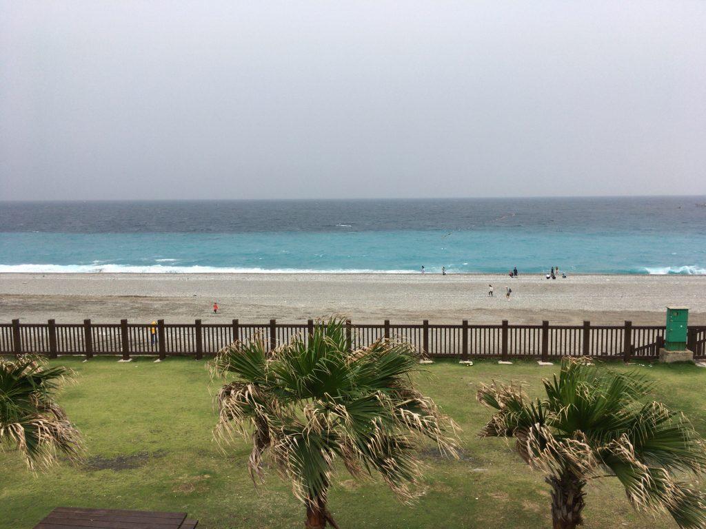 七星潭のビーチ。南国らしい雰囲気だ