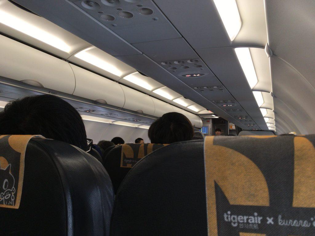 タイガーエア台湾の機内
