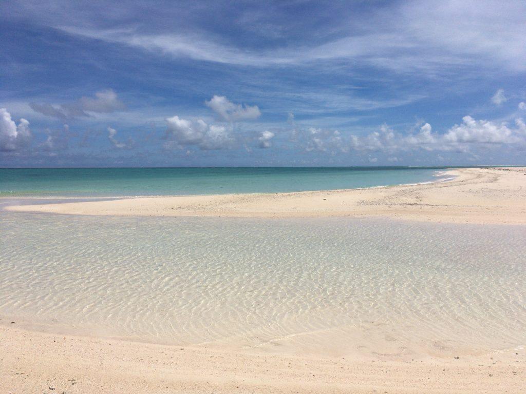 刻々と姿を変えるはての浜。海から吹き付ける風が心地良い