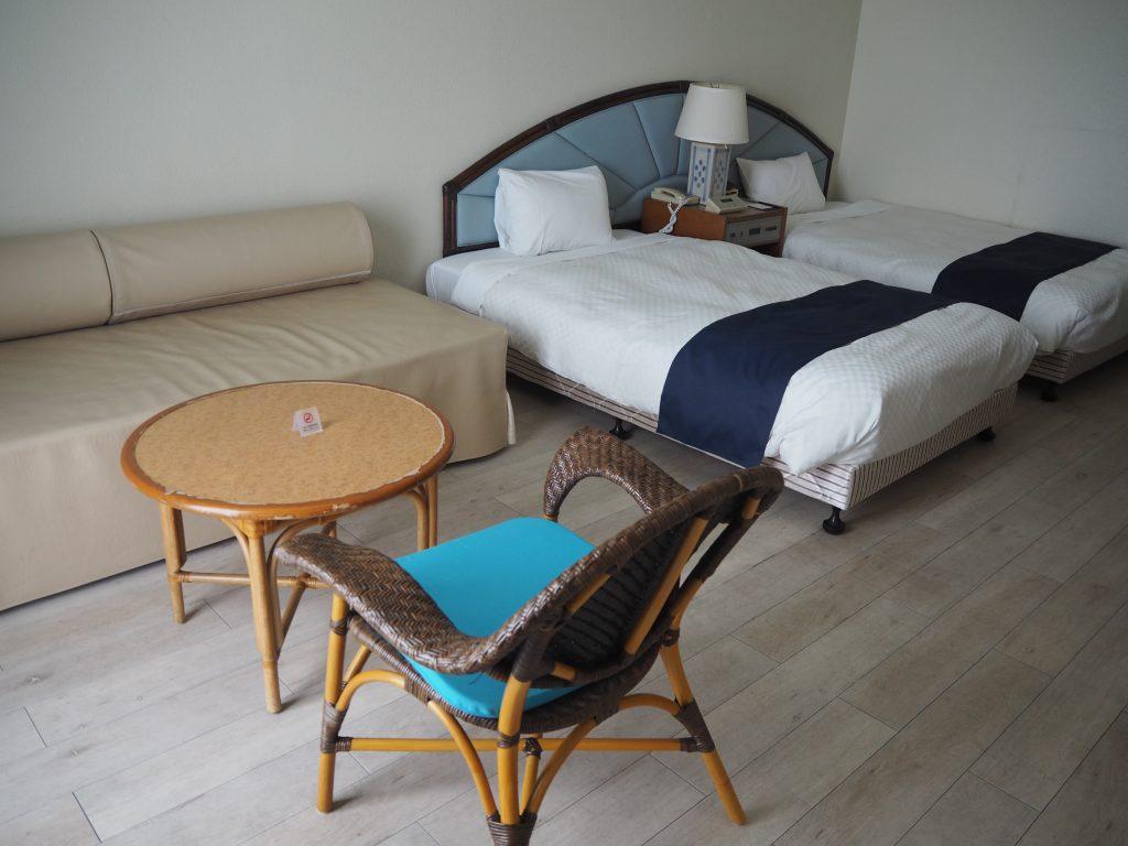 「イーフビーチホテル」の部屋(デラックスツイン)