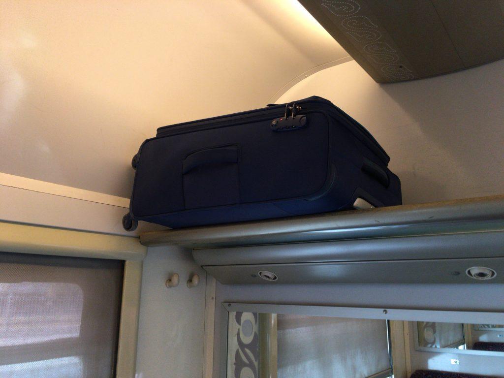 70Lのスーツケースが収まった