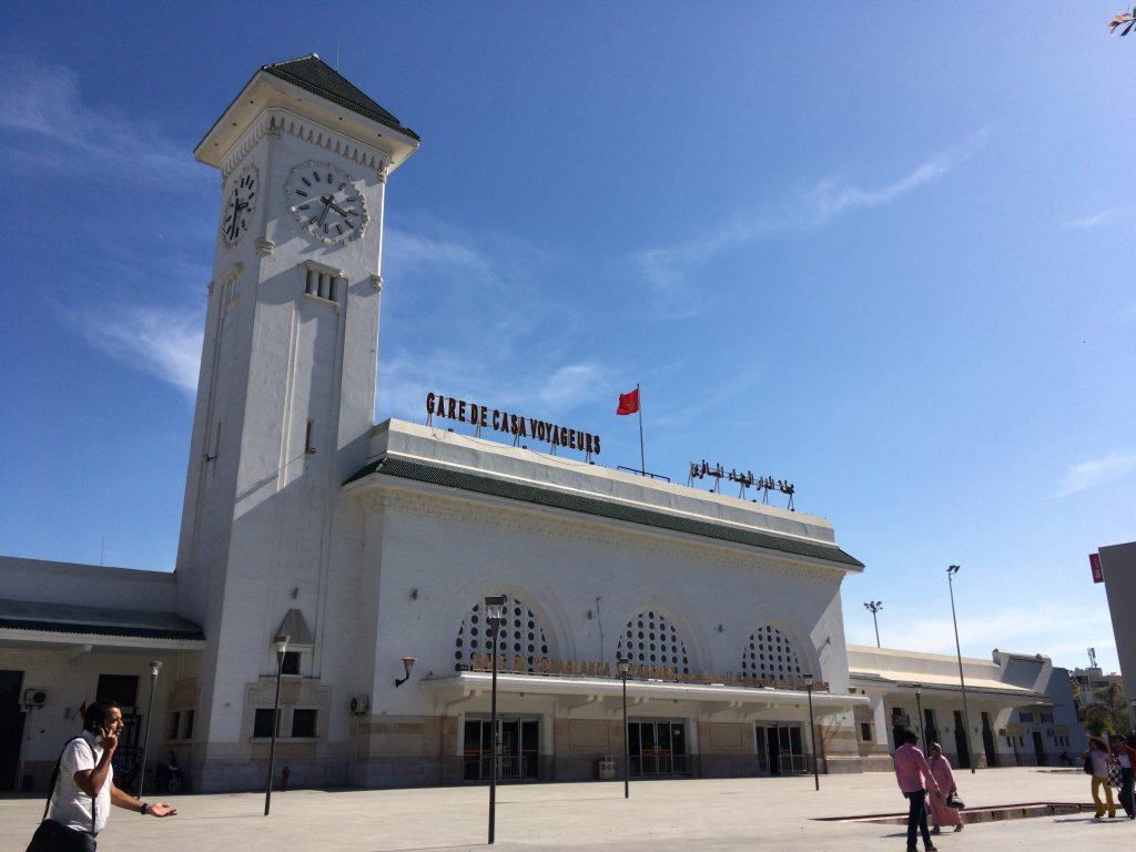 カサブランカ駅(Gare de Casa Voyageurs)。こちらも綺麗な駅だ
