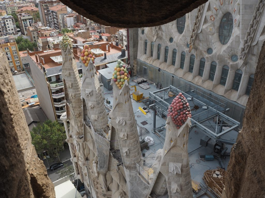 生誕のファサードの塔からの眺め