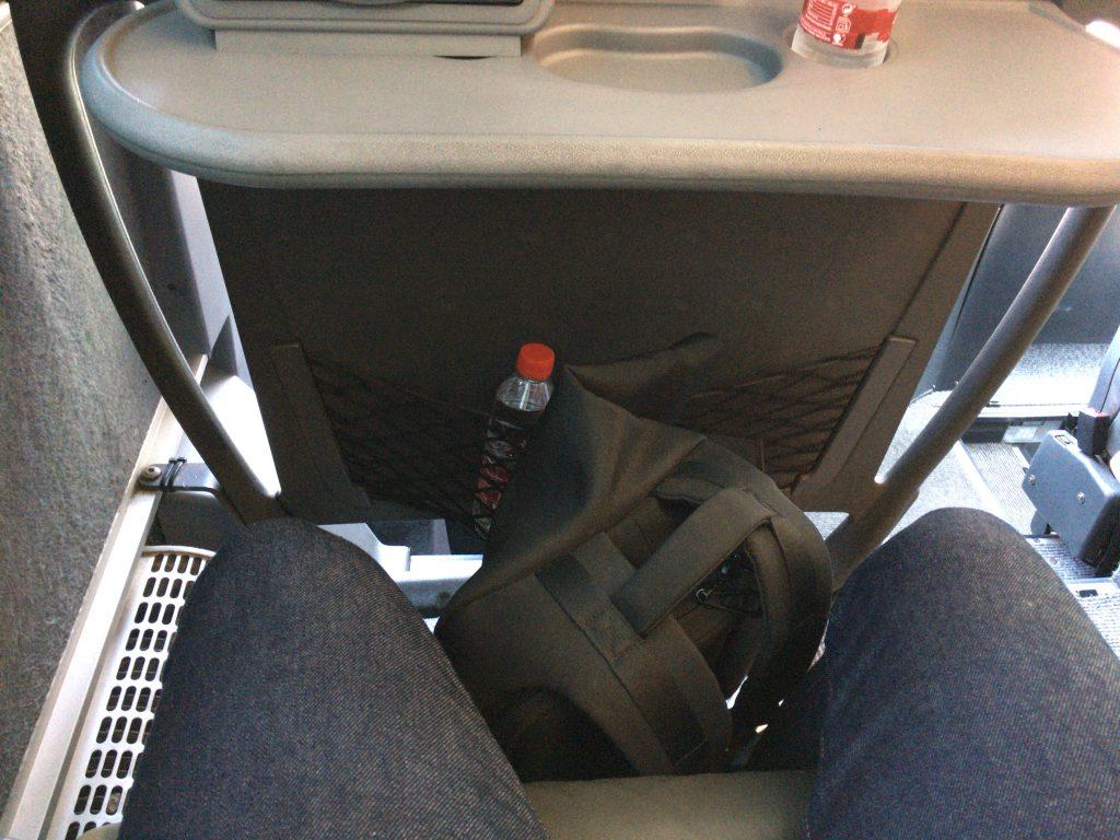 座席のスペースはゆったりとしている