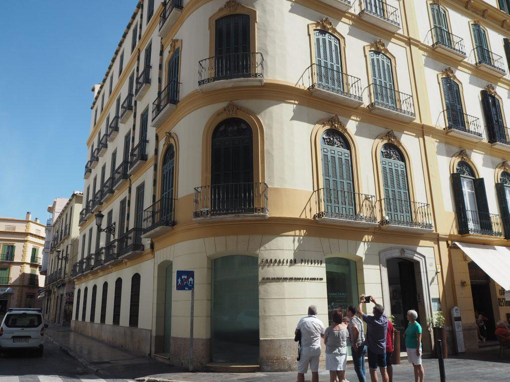ピカソの生家。ピカソはここで1881年10月25日に生まれた