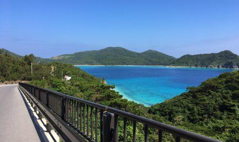 安護の浦。座間味島の中でも特に青色が印象的