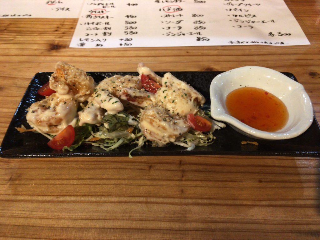 エビマヨ。ボリュームたっぷりで美味しい