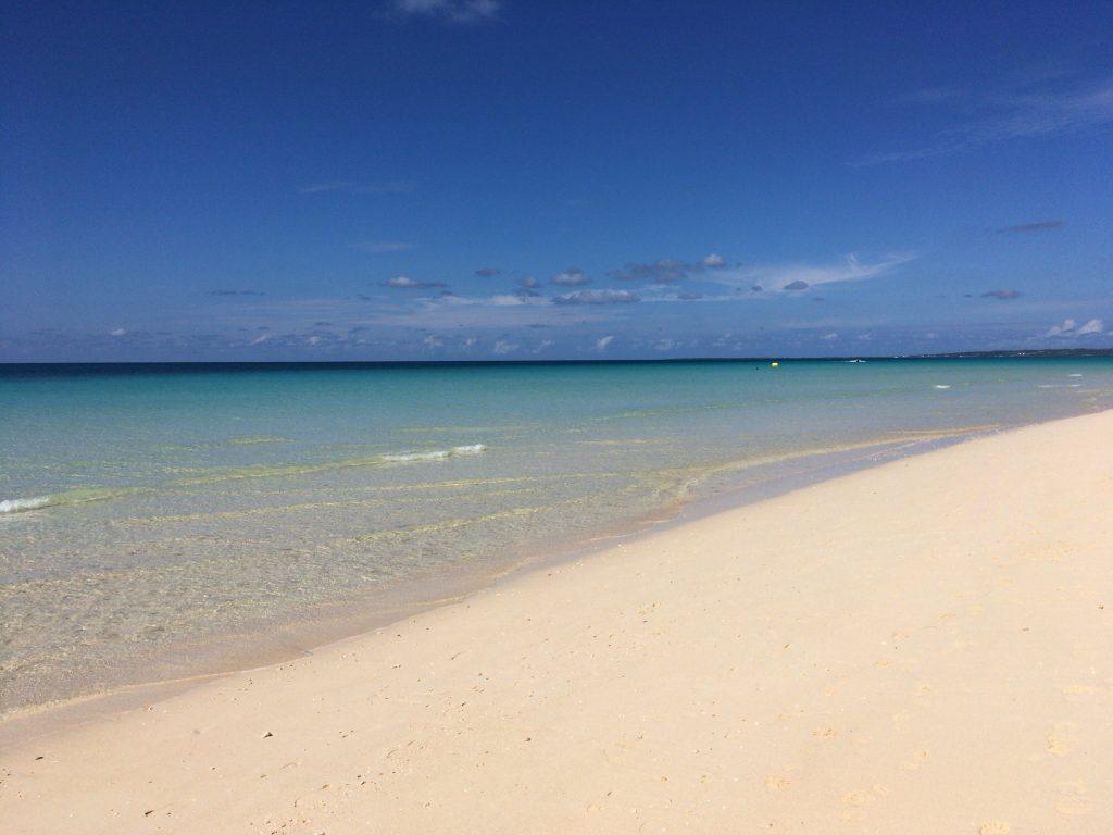 与那覇前浜。やっぱりここが日本で一番綺麗なビーチだと思う
