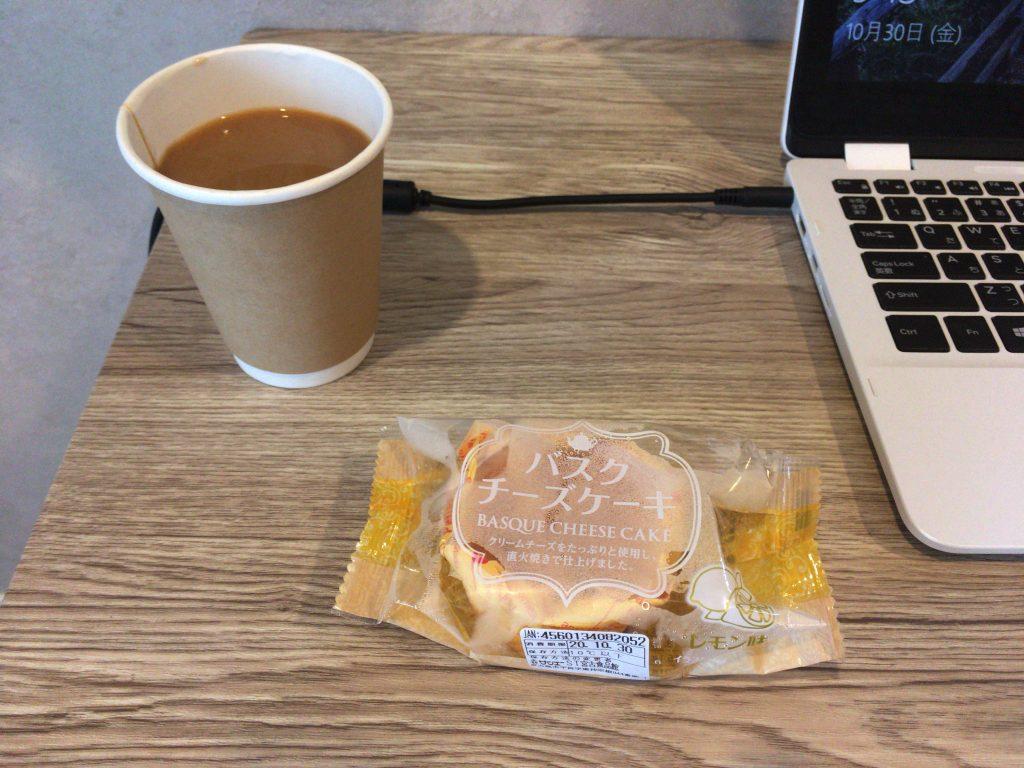 サンエーで買ったバスクチーズケーキ。はかない恋の味